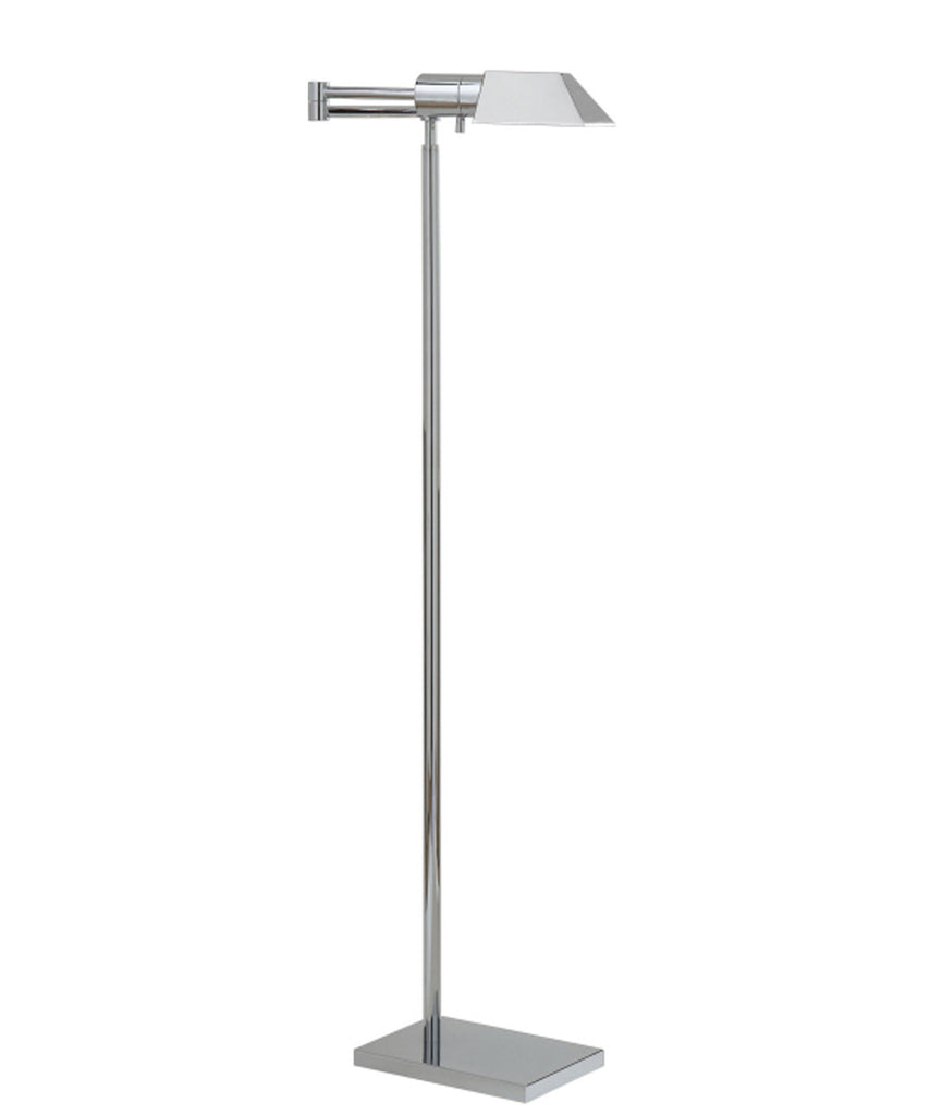 Studio Swing Arm Floor Lamp, Polished Nickel