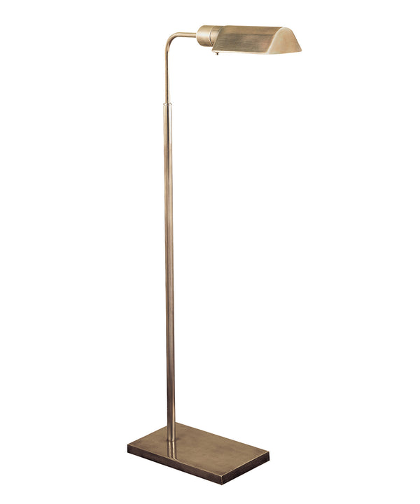 Studio Adjustable Floor Lamp, Antique Nickel