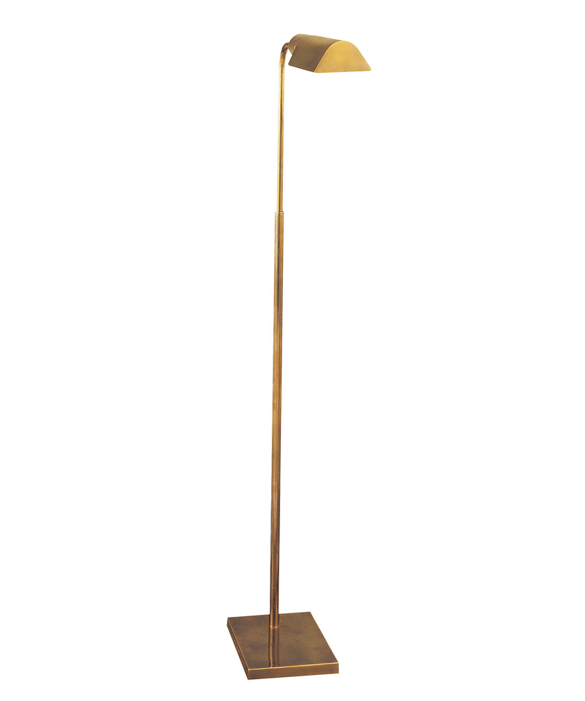 Studio Adjustable Floor Lamp, Antique Brass