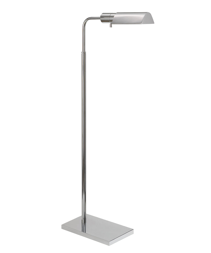 Studio Adjustable Floor Lamp, Polished Nickel