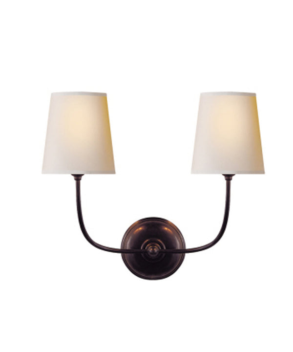 Vendome Double Wall Sconce, Bronze