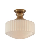 Milton Road Milk Glass Pendant
