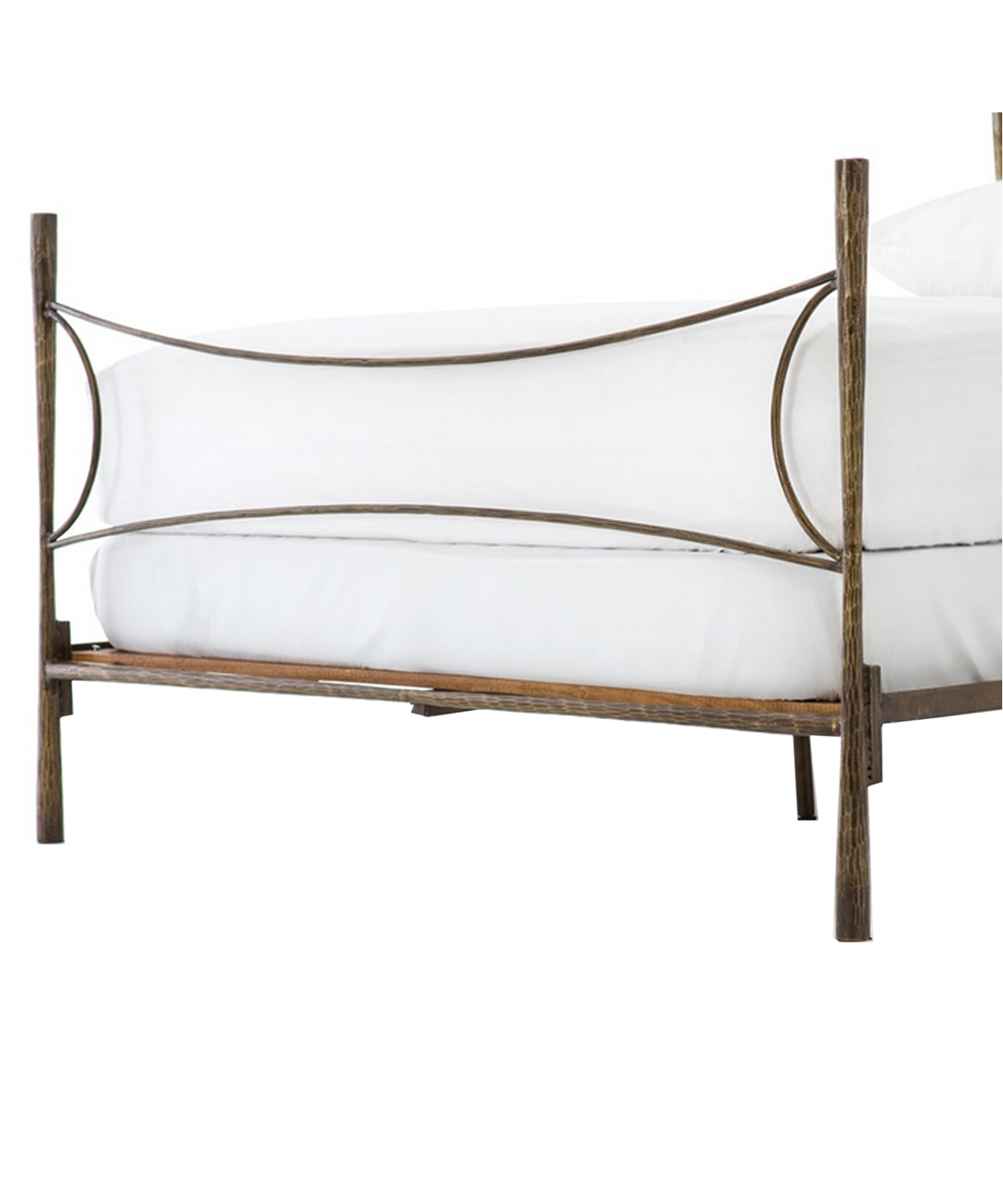 Weston Iron Bed, Antique Brass