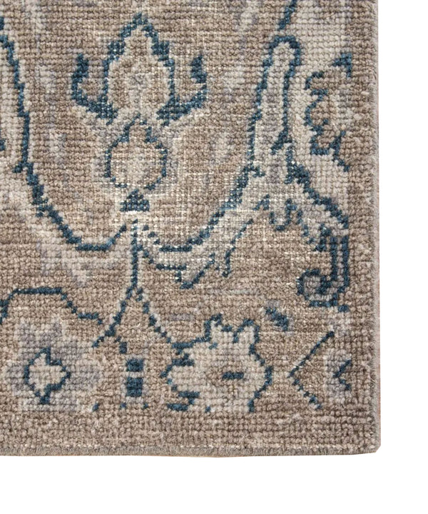 Williamsburg Hand Tufted Rug, Stone & Indigo