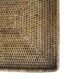 Woven Rectangular Serving Tray, Antique Brown