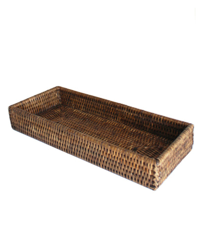 Woven Valet Tray, Brown