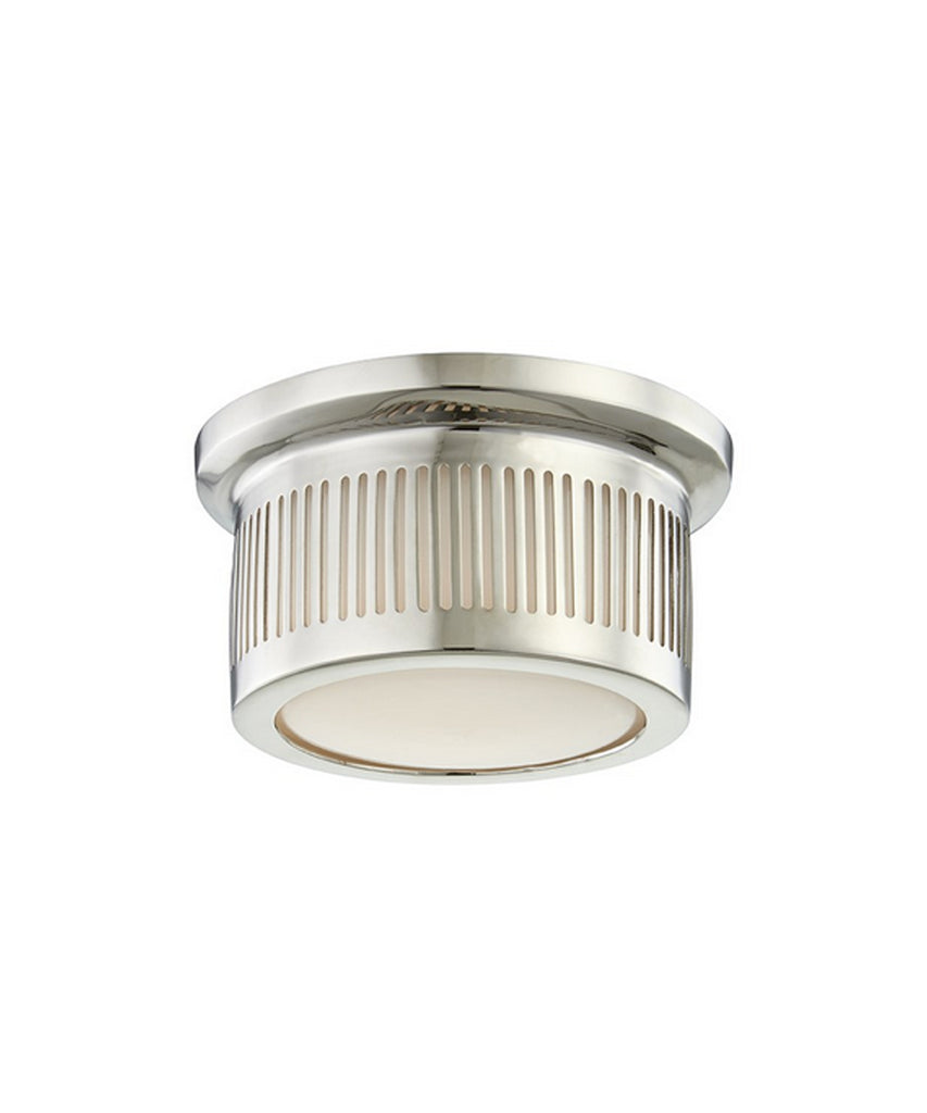 Bangor Flushmount, Polished Nickel