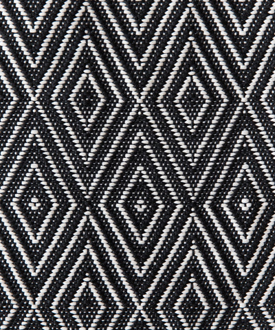 Cape May Diamond Indoor/Outdoor Rug, Black