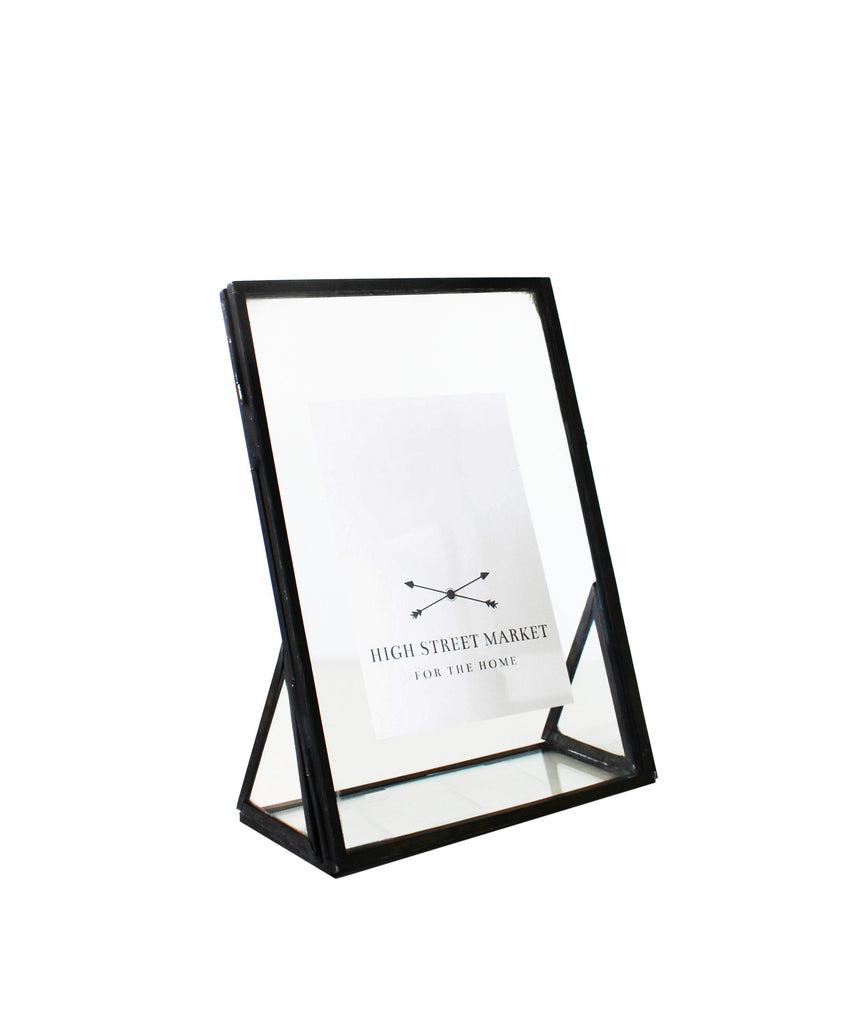 Double Sided Glass Picture Frame, Bronze