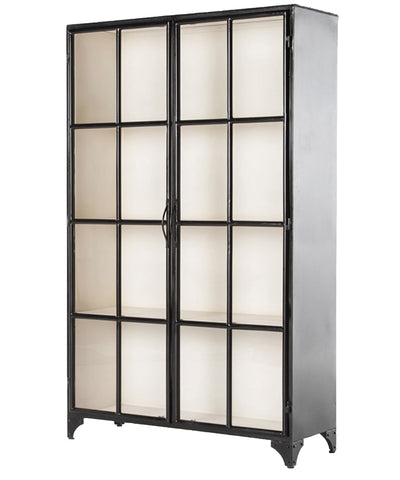 Seabrook Iron Cabinet, Black Seabrook Iron Cabinet, Black