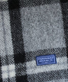Soho Plaid Wool Throw Blanket, Black/Grey, Faribault Woolen Mill Co.