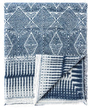 Indie Diamond Throw, Denim