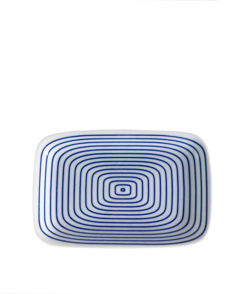 Small Porcelain Dish, Infinity Blue