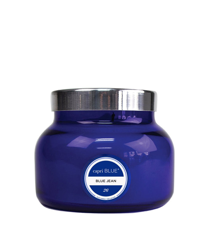 """Blue Jean"" Signature Capri Blue Jar Candle"