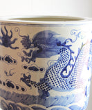 Large Blue & White Chinese Dragon Planter
