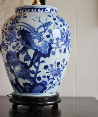 Blue & White Porcelain Table Lamp