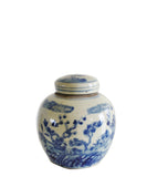 Blue & White Floral Ginger Jar, 6.5