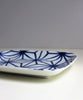 Small Porcelain Dish, Blue Geometric