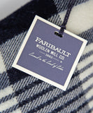 Faribault Plaid Wool Throw Pillow in Navy, Faribault Woolen Mill Co.