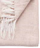 Linen Weave Throw Blanket, Blush