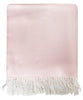 Italian Herringbone Throw Blanket, Blush