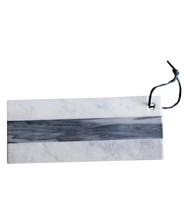 Small White and Grey Stripe Marble Cheese Board