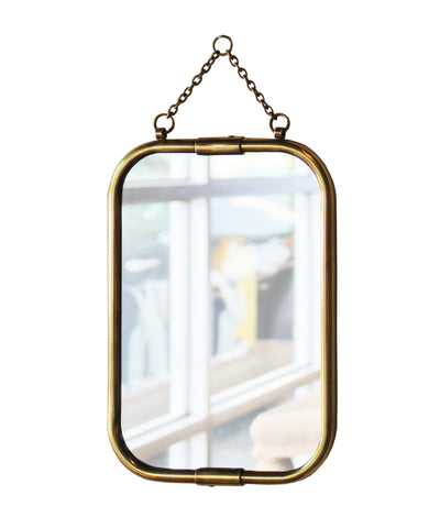 Small Brass Soho Mirror