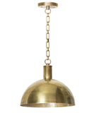 Morgan Dome Pendant, Brass