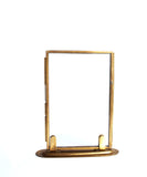 Double Sided Glass Picture Frames, Brass