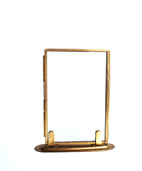 double sided glass picture frames brass - Double Sided Frames