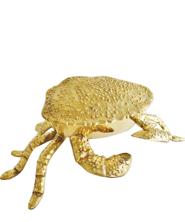 Large Brass King Crab Box