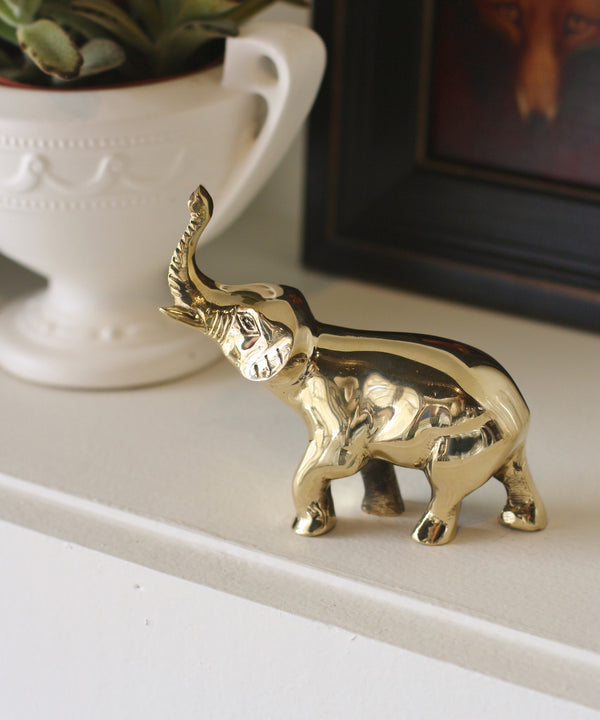 "Brass ""Good Luck"" Elephant"