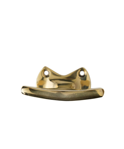 Cleat Wall Hook, Brass