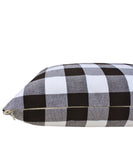 Big Check Lumbar Pillow, Black