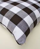 Big Check Throw Pillow, Black