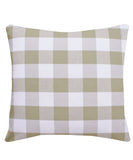 Big Check Throw Pillow, Tan