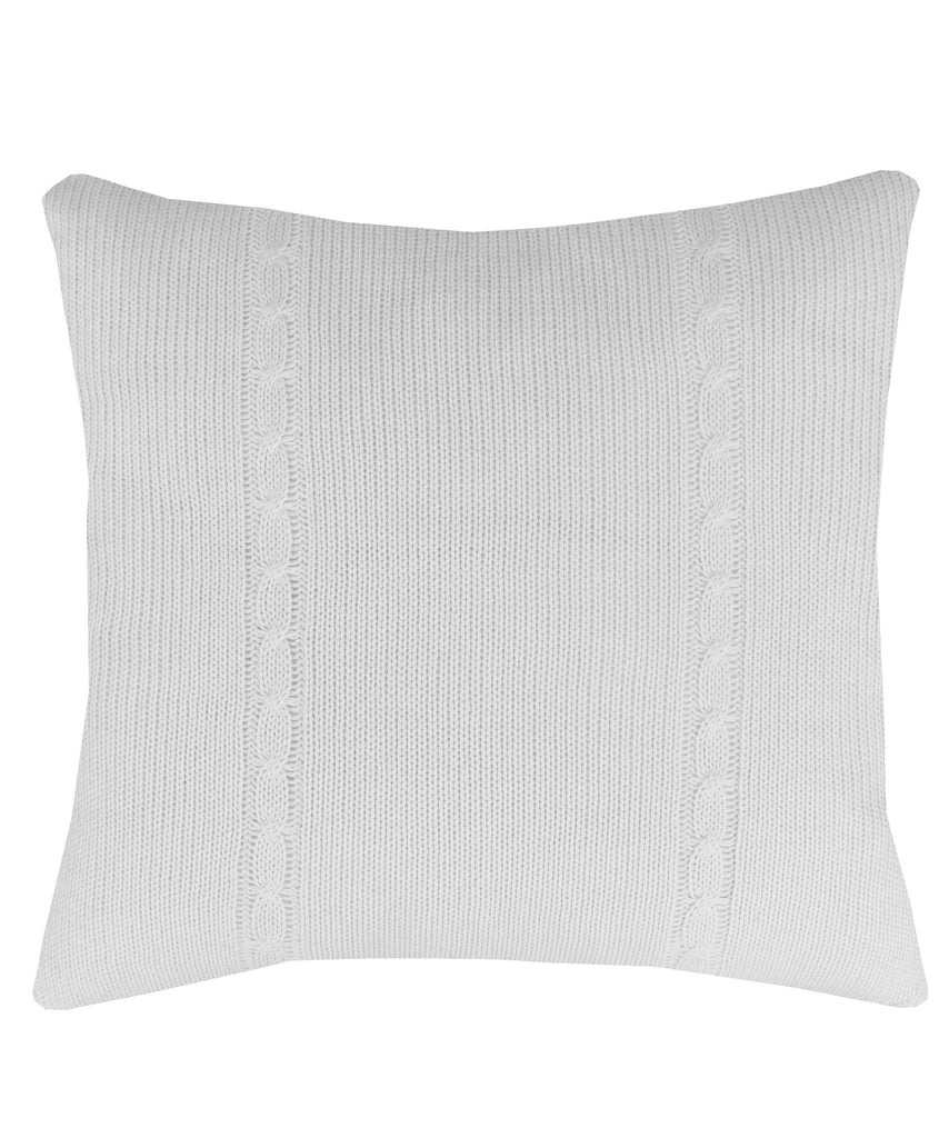 Cable Knit Large Throw Pillow, Ivory