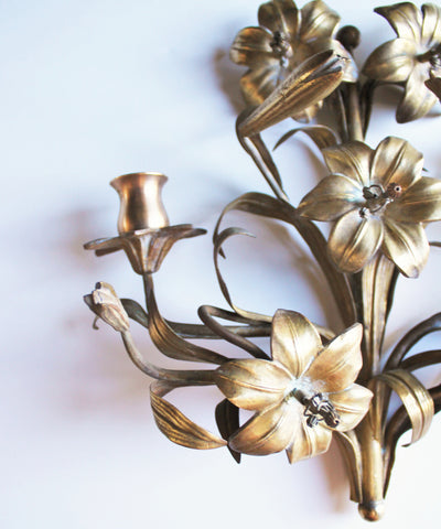 Antique Solid Brass Wall Candle Sconces