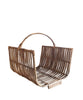 Curved Cane Magazine Basket