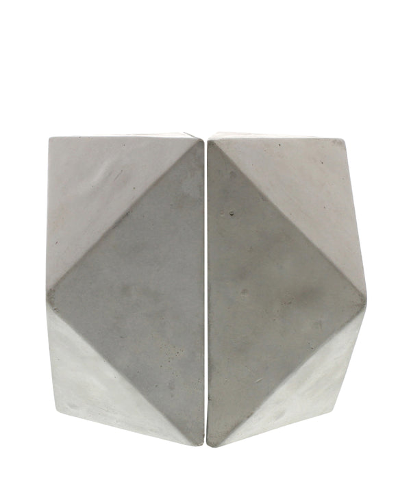 Pair of Geometric Cement Bookends