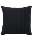 Charcoal Pleated Throw Pillow