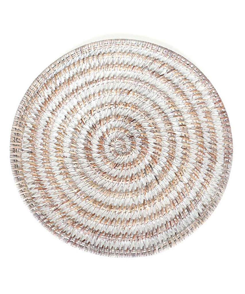 Woven Charger, White Wash