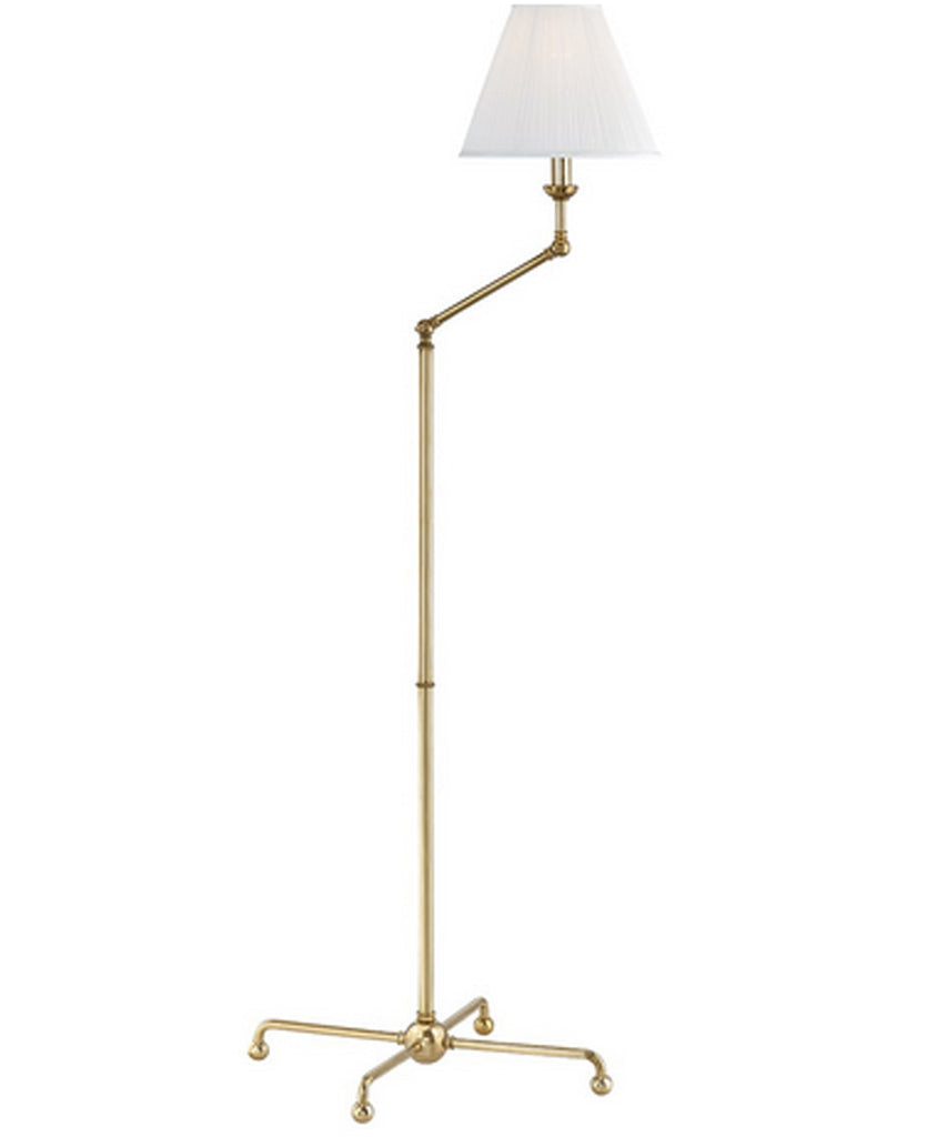 Classic No. 1 Adjustable Floor Lamp, Aged Brass
