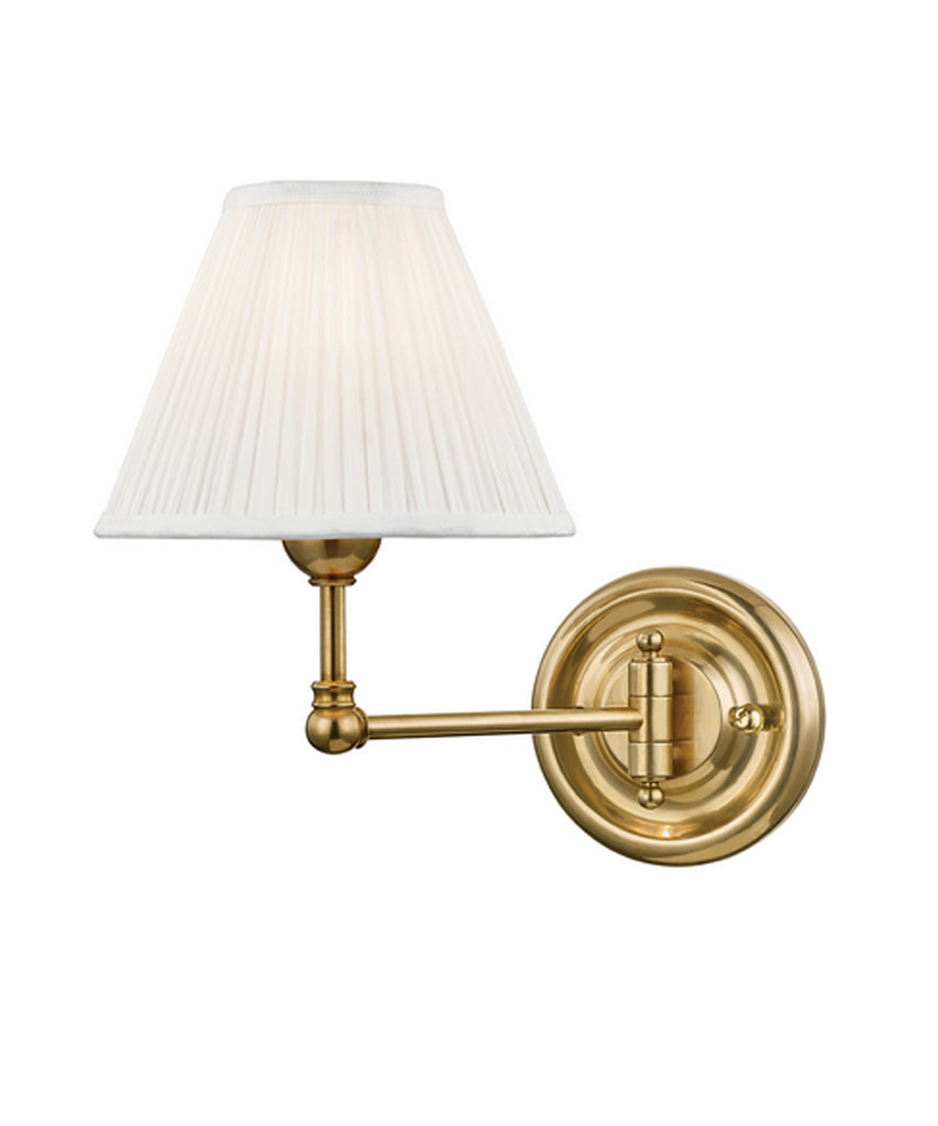 Classic No. 1 Single Light Wall Sconce, Aged Brass