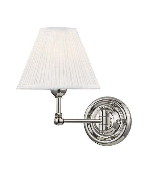 Classic No. 1 Double Light Wall Sconce, Polished Nickel