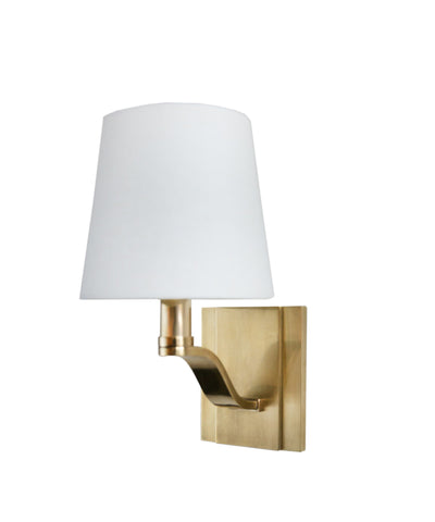 Clayton Single Light Wall Sconce, Aged Brass