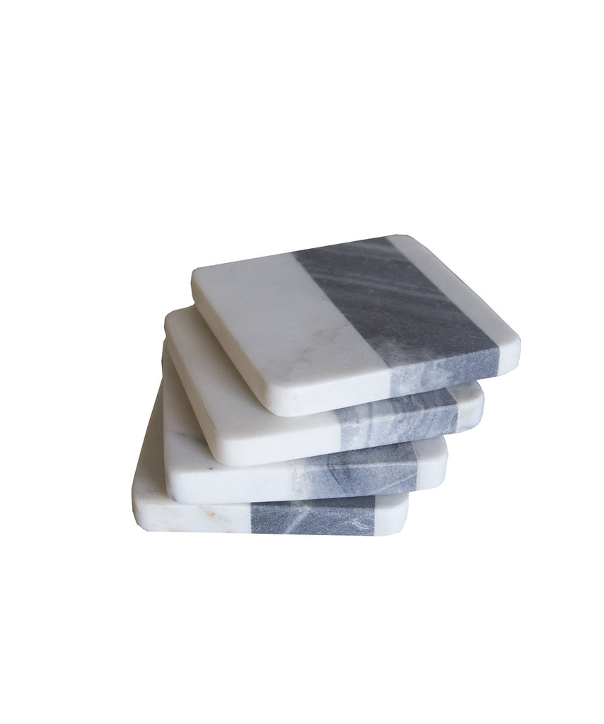 Set of 4 Striped Marble Coasters