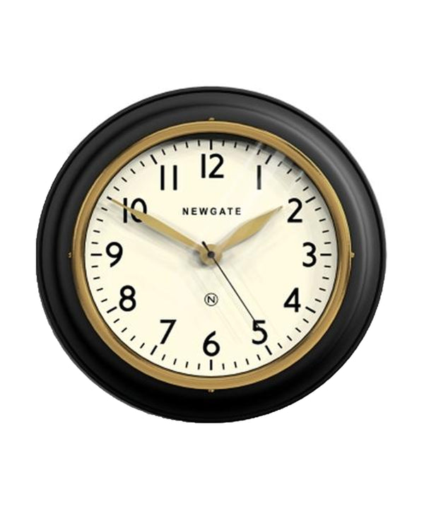 Kitchen Cook Wall Clock, Black