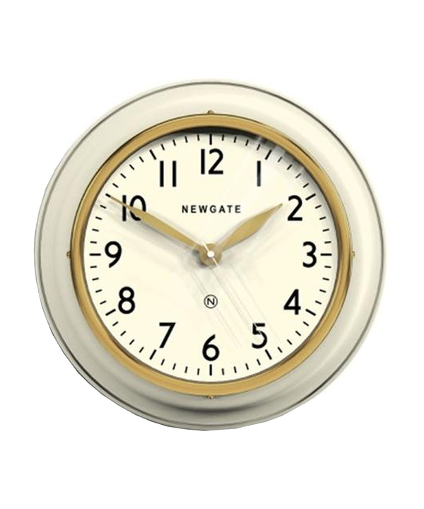 Kitchen Cook Wall Clock, Linen White