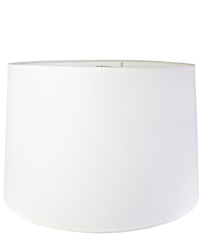 White Linen Drumshade, Extra Large